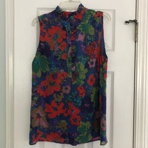 EUC J. Crew ruffle neck top, 4